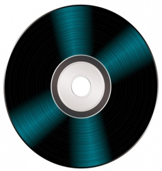 shiny video cd vector image