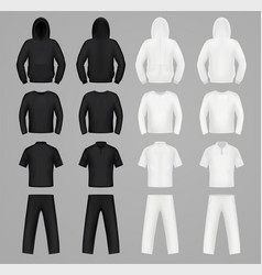 silhouettes clothes black and white colors vector image vector image
