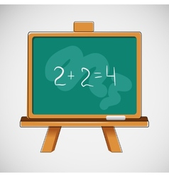 Simple black board with written numbers vector