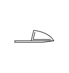 slipper icon vector image