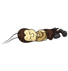 Small cricket sleeping vector