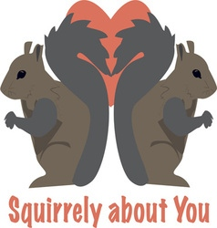 Squirrely about you vector