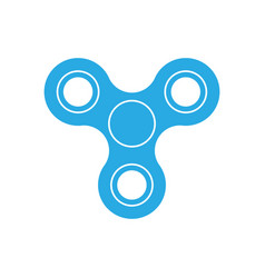 Three-bladed fidget spinner - popular toy and anti vector