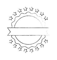 united states of america emblem frame vector image vector image