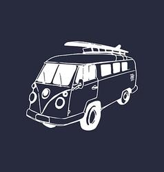 Vintage car design vector