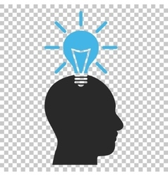 Genius bulb icon vector