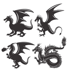Dragon animal cartoon design vector image