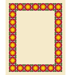Art nouveau border photo frame vector image