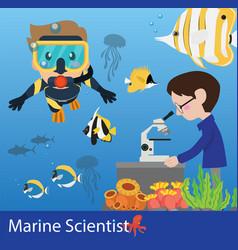 Marine science researcher vector