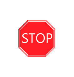 stop solid icon traffic regulatory sign vector image