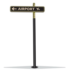 Airport street sign vector
