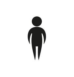 Simple black single man icon symbol stick figure vector