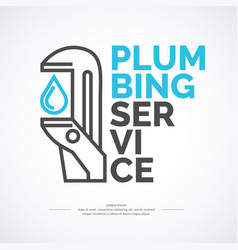 Plumbing repair banner stylish poster and vector