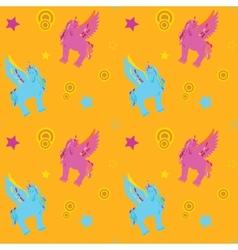Unicorn Pegasus seamless pattern vector image