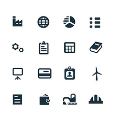 Economy icons set vector
