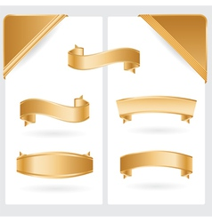 Golden ribbons and corners vector