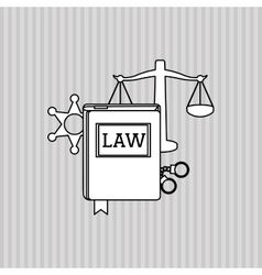 Law and justice book design vector
