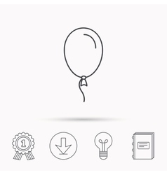 Balloon icon party decoration sign vector