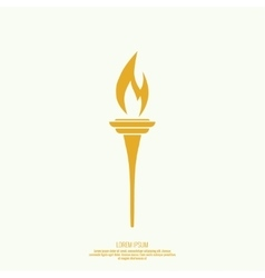 Icon of torch vector