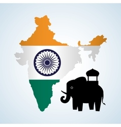 India design culture icon isolated vector
