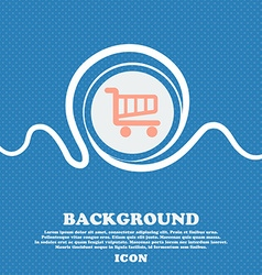 Shopping cart sign icon online buying button blue vector