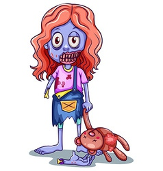 A young zombie vector image vector image