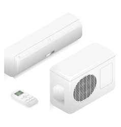 Air conditioner 3d home summer vector