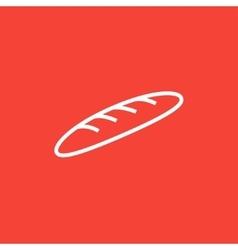 Baguette line icon vector