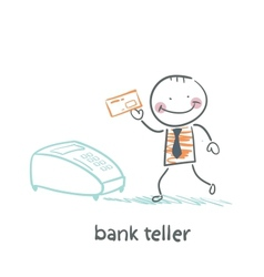 Bank teller with the apparatus vector