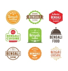 Bengali cuisine label vector