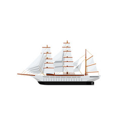 big caravel isolated on white icon vector image