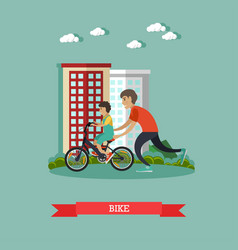 Bike concept in flat style vector