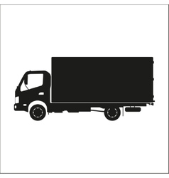 Black silhouette of a truck on a white background vector image