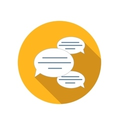 Chat bubles flat icon vector