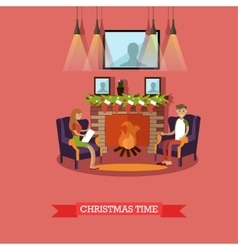 Christmas time design vector image vector image