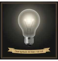 Clear lightbulb vector image vector image