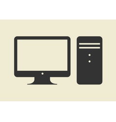 Computer web icon flat design vector image