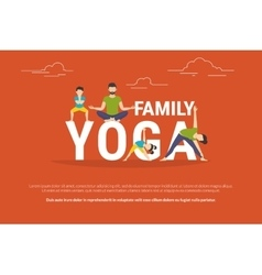 Concept of family yoga vector