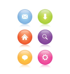 Glossy Web Icons vector image