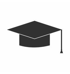 Graduation cap icon simple style vector image vector image