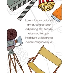 Hand drawn cinema card vector image vector image