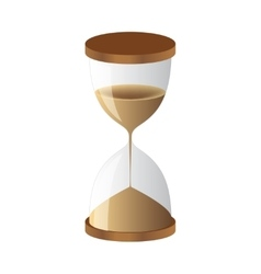 Hourglass sand clock vector image