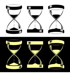 Hourglasses vector image vector image