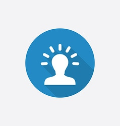 idea Flat Blue Simple Icon with long shadow vector image