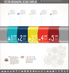 infographic design template colorful design 8 vector image