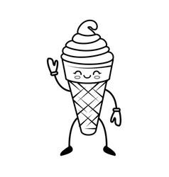 Kawaii ice cream vector