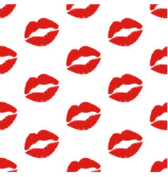 Kiss seamless pattern vector