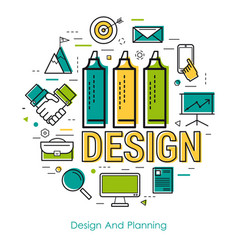 Line art - design and planning vector