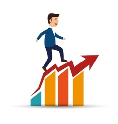 Man business planning statistics success vector