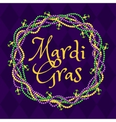 Mardy gras purple background vector image vector image
